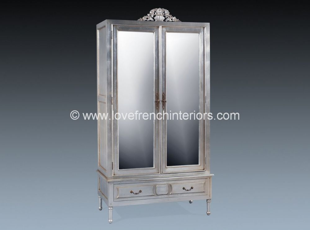 Isabelle Mirrored Armoire